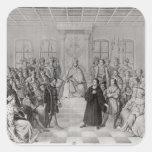 Martin Luther delante de Charles V Pegatina Cuadrada