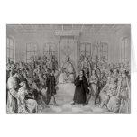 Martin Luther delante de Charles V Tarjeta De Felicitación