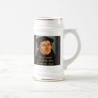 Martin Luther Here I Stand Quotation 18 Oz Beer Stein