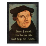 Martin Luther - Here I Stand Quotation Postcards