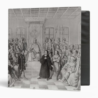 Martin Luther in front of Charles V 3 Ring Binder