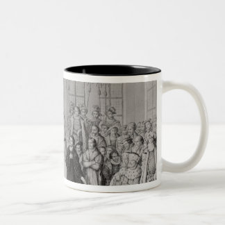 Martin Luther in front of Charles V Two-Tone Coffee Mug