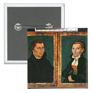 Martin Luther, Katharina von Bora, c.1526 2 Inch Square Button