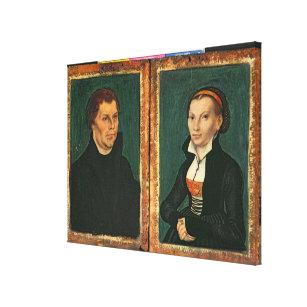Martin Luther Katharina Von Bora C 1526 Canvas Print