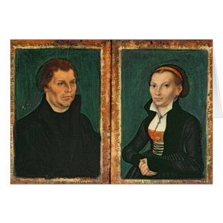 Martin Luther, Katharina von Bora, c.1526 Card