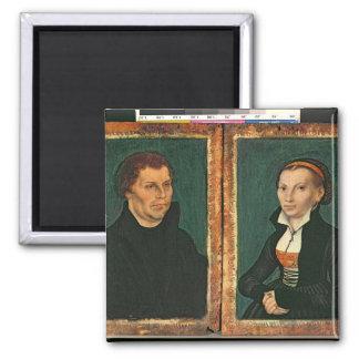 Martin Luther, Katharina von Bora, c.1526 Refrigerator Magnet