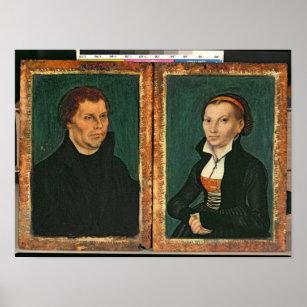 Martin Luther Katharina Von Bora C 1526 Poster