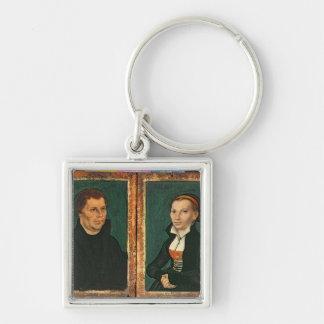 Martin Luther, Katharina von Bora, c.1526 Silver-Colored Square Keychain