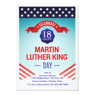 Martin Luther Kind Day Celebration Invitation