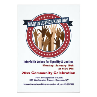 Martin Luther King Interfaith Celebration Invite