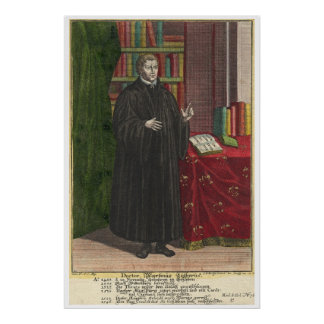 Martin Luther portrait Posters