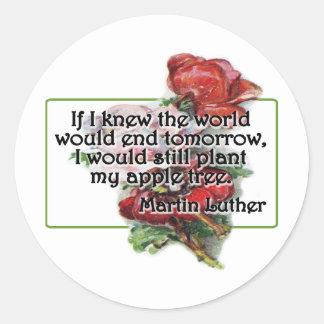 Martin Luther Round Stickers