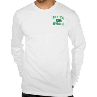 Martin Luther - Spartans - High - Greendale Tshirt