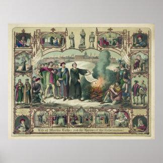 Martin Luther y héroes de la reforma [1874] Póster
