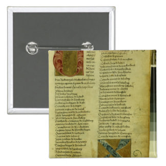 Martin Luther's enrolment sheet 2 Inch Square Button