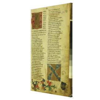 Martin Luther's enrolment sheet Canvas Print