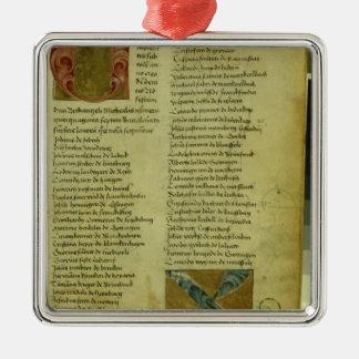 Martin Luther's enrolment sheet Metal Ornament