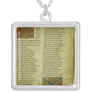 Martin Luther's enrolment sheet Silver Plated Necklace