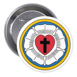 Martin Luther's Seal 3 Inch Round Button