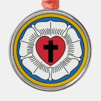 Martin Luther's Seal Metal Ornament