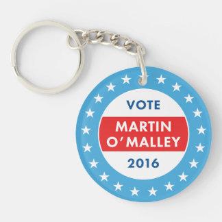 Martin O'Malley 2016 Double-Sided Round Acrylic Keychain