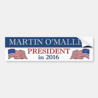 Martin O'Malley 2016 Patriotic Bumper Sticker