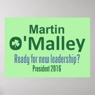 Martin O'MALLEY 2016 Poster