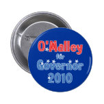 Martin O'Malley for Governor 2010 Star Design Pinback Buttons