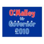 Martin O'Malley for Governor 2010 Star Design Postcard