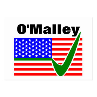 Martin O'Malley  For President 2016 Large Business Card