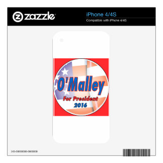 Martin O'Malley for President in 2016 iPhone 4 Skin