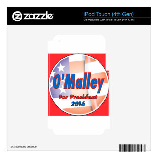 Martin O'Malley for President in 2016 iPod Touch 4G Decal