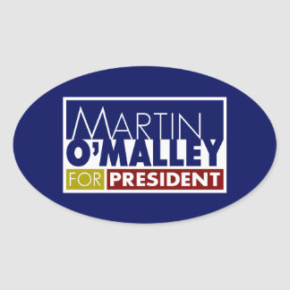 Martin O'Malley for President V1 Oval Sticker