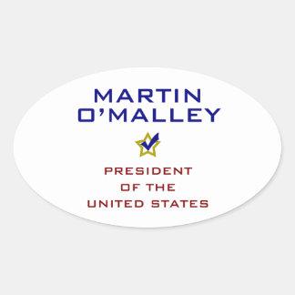 Martin O'Malley for President V2 USA Oval Sticker