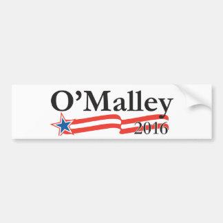 Martin O'Malley para el presidente 2016 Pegatina De Parachoque