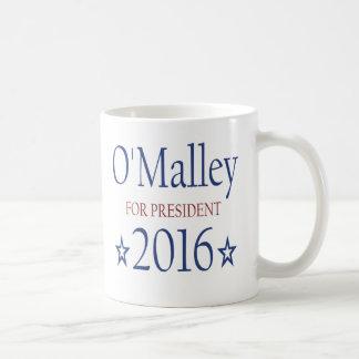 Martin O'Malley para el presidente 2016 Taza Básica Blanca