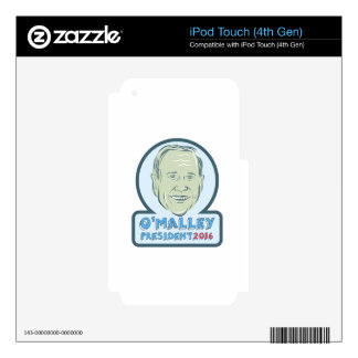 Martin O'Malley President 2016 Decals For iPod Touch 4G