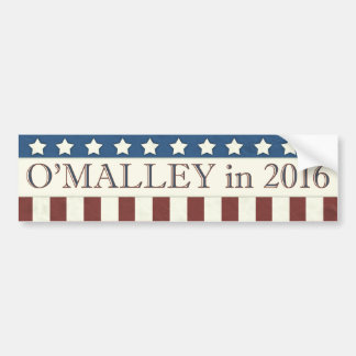 Martin O'Malley President 2016 Stars Stripes Bumper Sticker