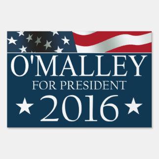 Martin O'Malley President 2016 USA Flag Sign