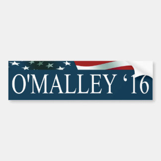 Martin O'Malley President in 2016 Bumper Sticker