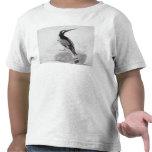 Martín pescador blanco y negro camiseta