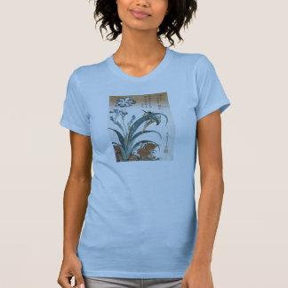 Martín pescador con los iris Hokusai 1834 Camisetas