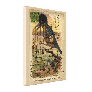 Martín pescador de la postal impresiones en lienzo estiradas