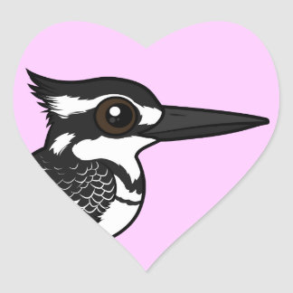 Martín pescador de varios colores de Birdorable Pegatina En Forma De Corazón