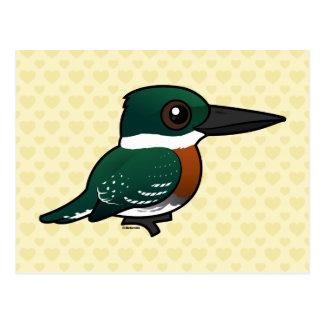 Martín pescador verde de Birdorable Postal