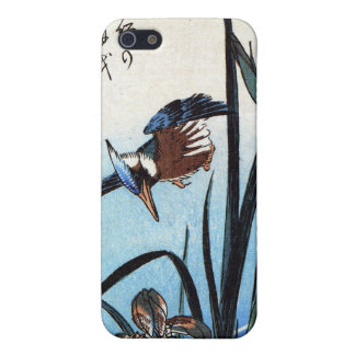 Martín pescador y lirios, Hiroshige iPhone 5 Carcasa
