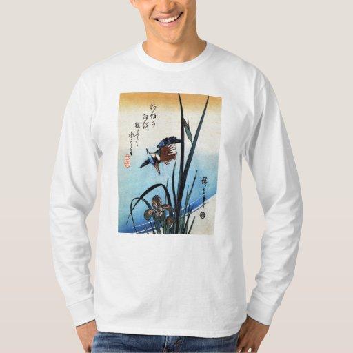 Martín pescador y lirios, Hiroshige Playera