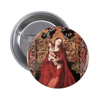Martin Schongauer- Madonna de Bush color de rosa Pins