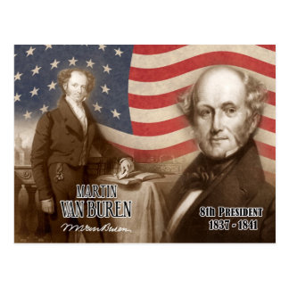 Martin Van Buren  - 8th President of the U.S. Postcard