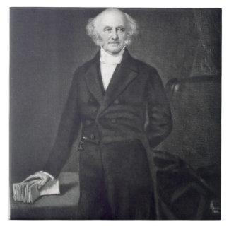 Martin Van Buren, 8vo presidente del Stat unido Azulejo Cuadrado Grande